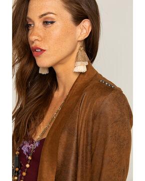Shyanne Women's Adilene Tiered Tassel Earrings, Brown, hi-res