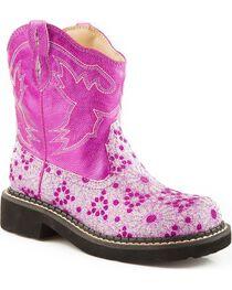 Roper Kid's Chunk Riderlite 2 Western Boots, Pink, hi-res