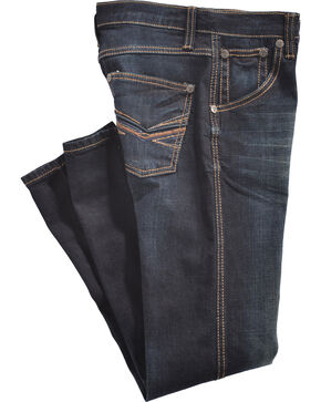 Wrangler 20X Boys' Deep Indigo Dark Wash Slim Fit Jeans (8-16) - Boot Cut, Blue, hi-res