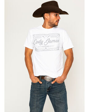 Cody James Men's Logo Screen Print T-Shirt, White, hi-res