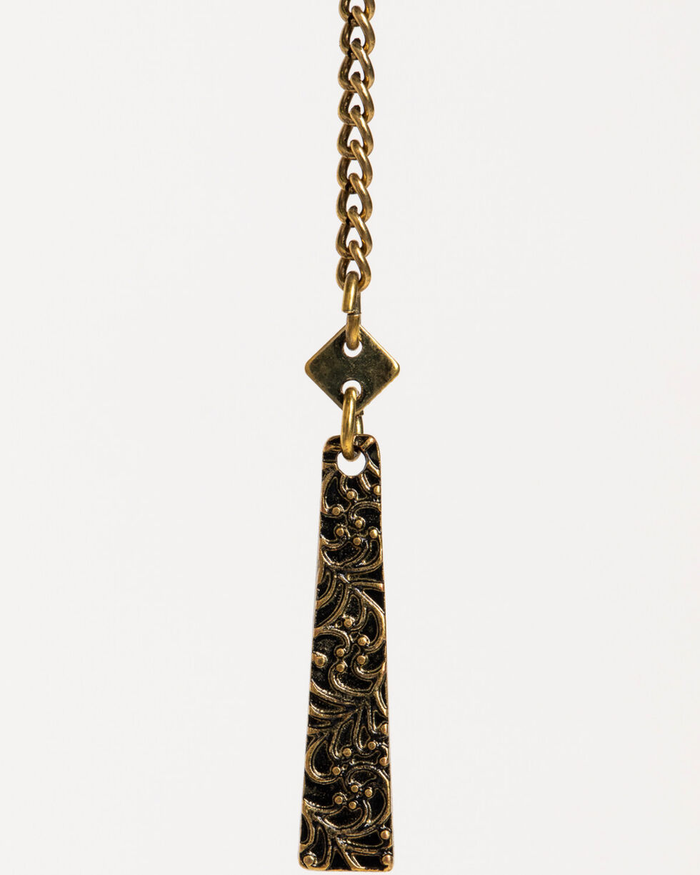 Shyanne Women's Layered Chain Squash Blossom Necklace, Gold, hi-res