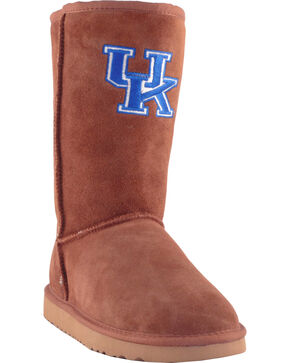 Gameday Boots Women's University of Kentucky Lambskin Boots, Tan, hi-res