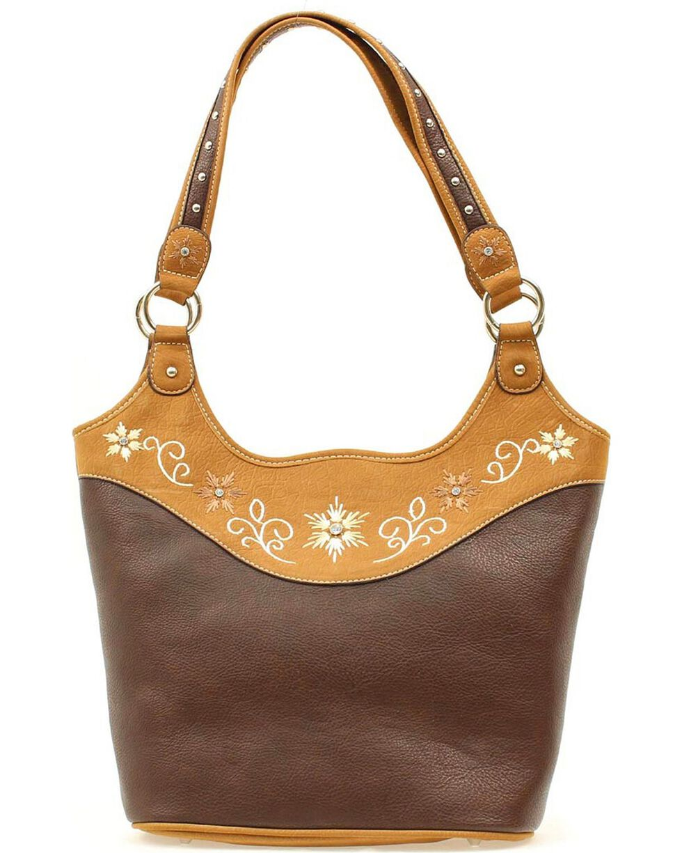 Blazin' Roxx Women's Starburst Purse, Brown, hi-res
