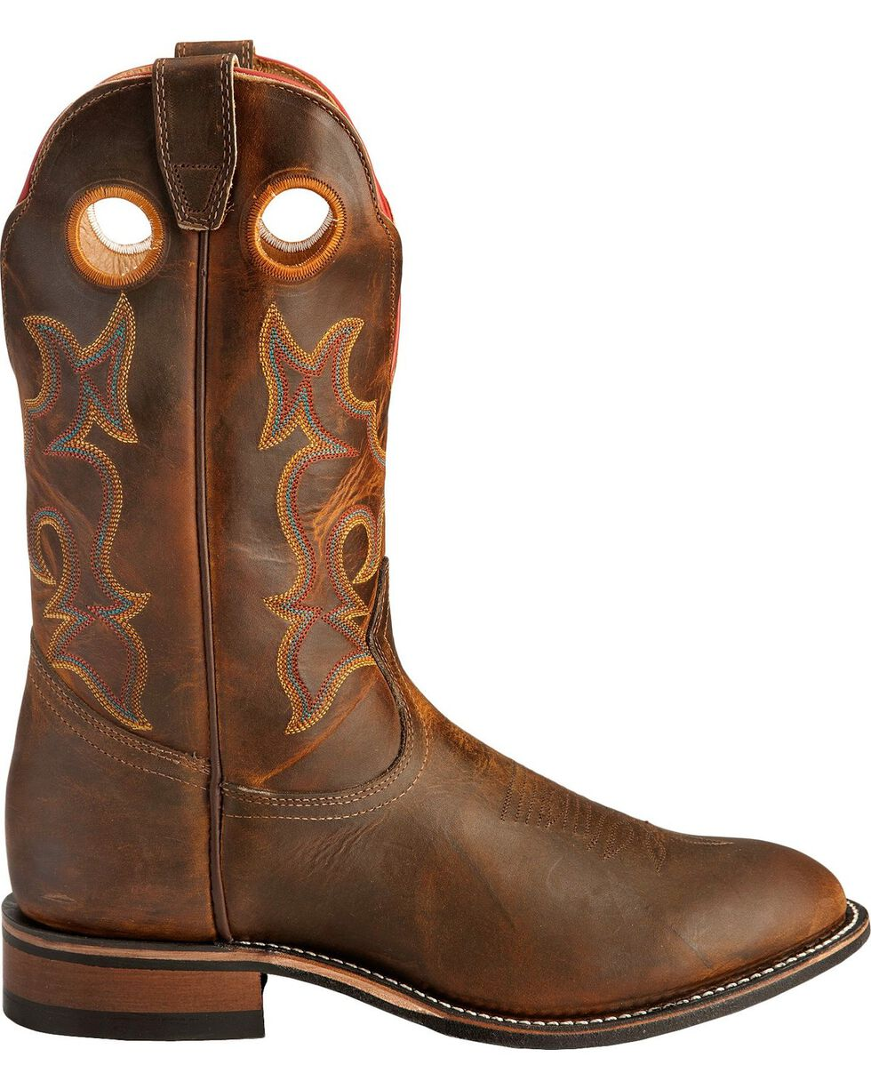Boulet Super Roper Walnut Boots - Round Toe, Tan, hi-res