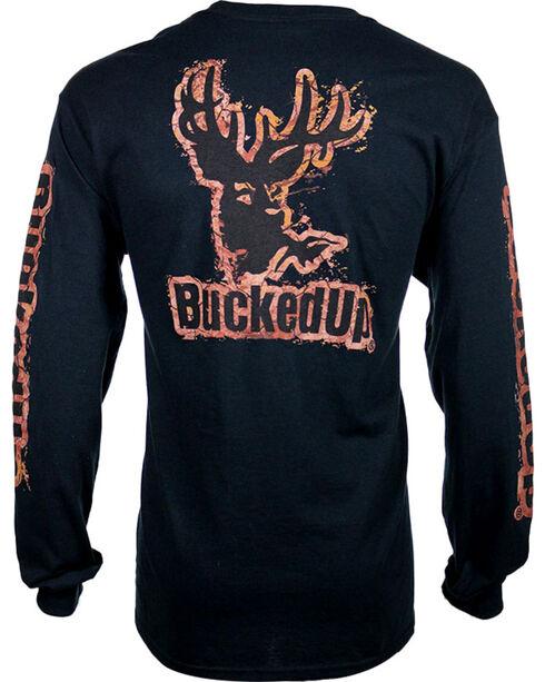 BuckedUp Men's Long Sleeve Mud Graphic T-Shirt, Black, hi-res
