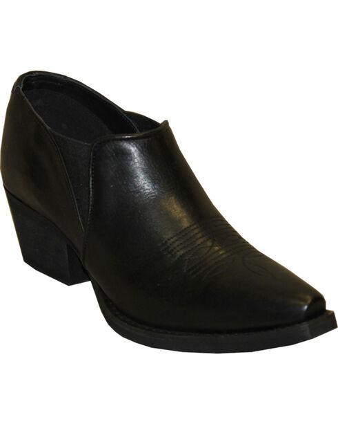 Rawhide Women's X Toe Ankle Booties, Black, hi-res