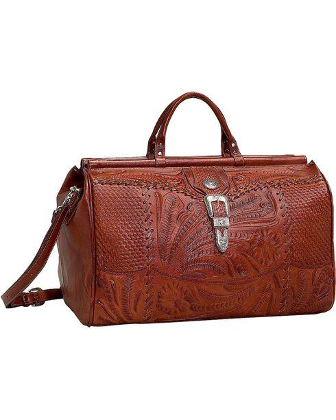 American West Retro Romance Duffel Bag, Antique Tan, hi-res