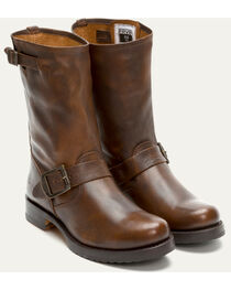 Frye Women's Brown Veronica Short Boots - Round Toe , , hi-res