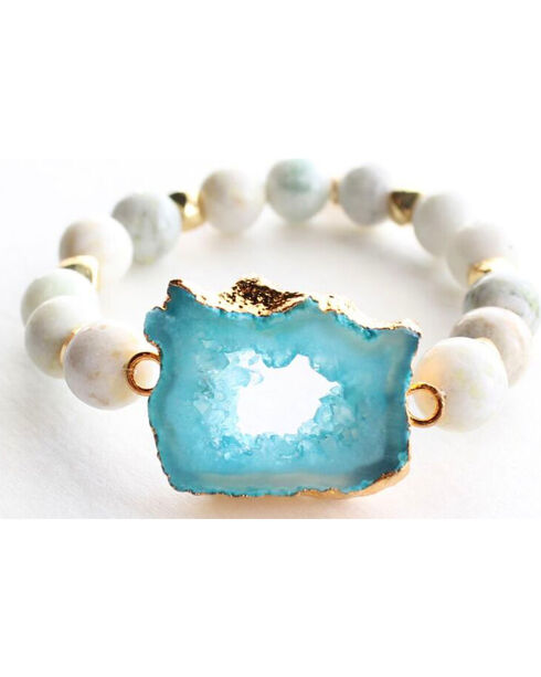 Everlasting Joy Women's A Bloom in Blue Bracelet, Blue, hi-res