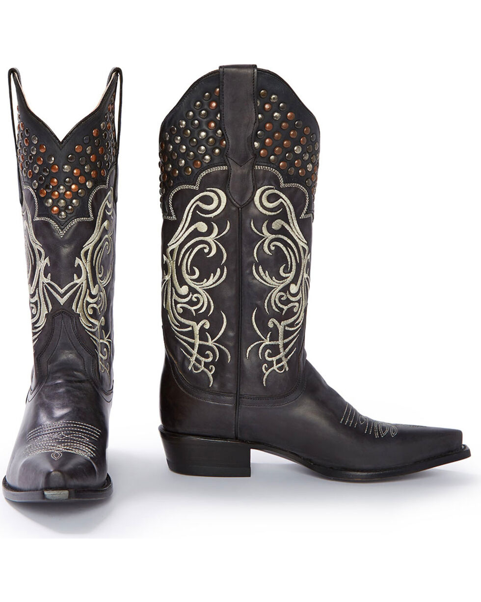 Stetson Women's Big Lila Western Boots, Black, hi-res