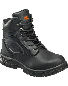 "Avenger Men's 6"" Steel Toe Lace Up Work Boots, Black, hi-res"
