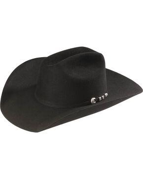 Stetson Bar None 4X Fur Felt Hat, Black, hi-res