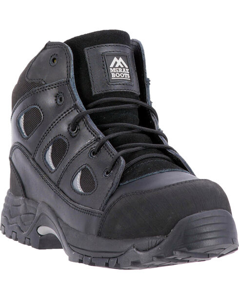 McRae Men's Non-Metallic Puncture Resistant Work Boot - Composite Toe, Black, hi-res