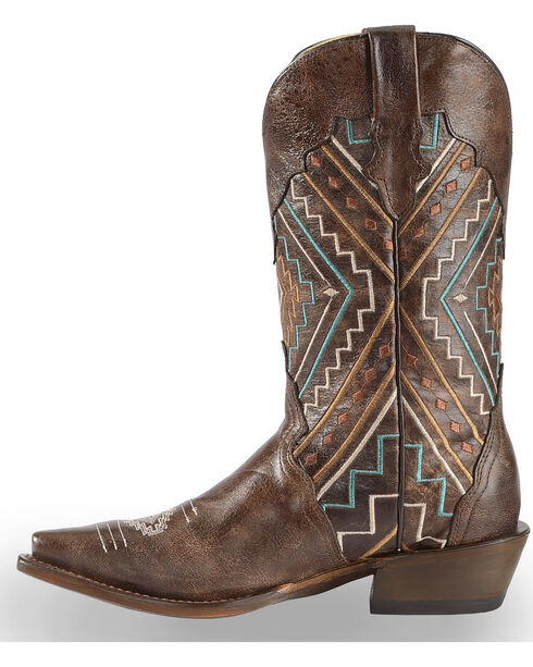 Roper Women's Southwest Snip toe Western Boots, Brown, hi-res