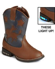 Roper Infant's Motion-Activated Light Up Western Boots, , hi-res