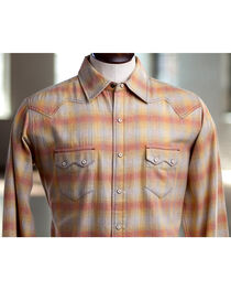 Ryan Michael Men's Melange Plaid Shirt, , hi-res
