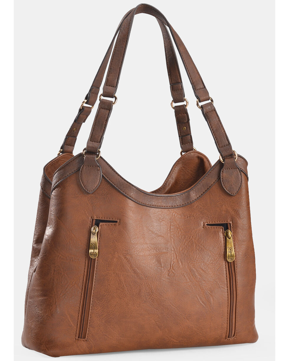 Justin Women's Caramel Stitch Concealed Carry Tote, Brown, hi-res