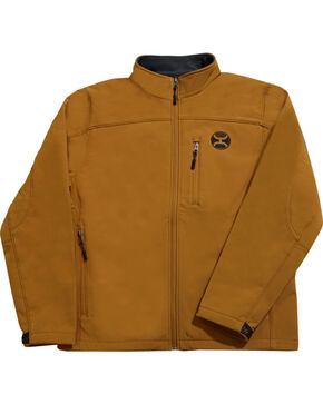 Hooey Men's Tan Soft Shell Micro-Fleece Jacket , Tan, hi-res