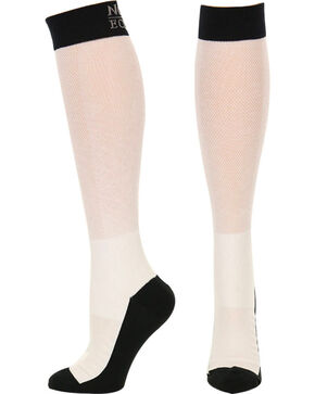 Noble Equine Men's Over the Calf XtremeSoft Boot Socks, White, hi-res