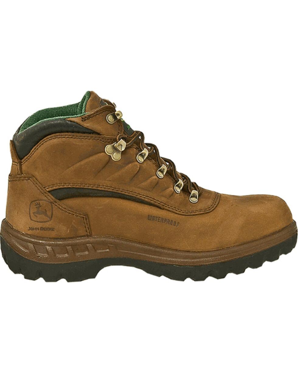"John Deere® Men's WCT Waterproof Safety Toe 5"" Hiking Boots, Tan, hi-res"