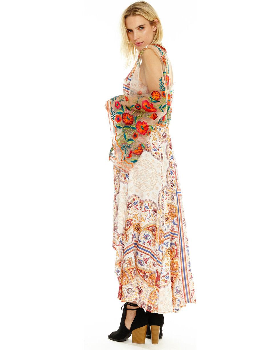 Aratta Women's Cream Surreal Dreamer Dress , Rust Copper, hi-res