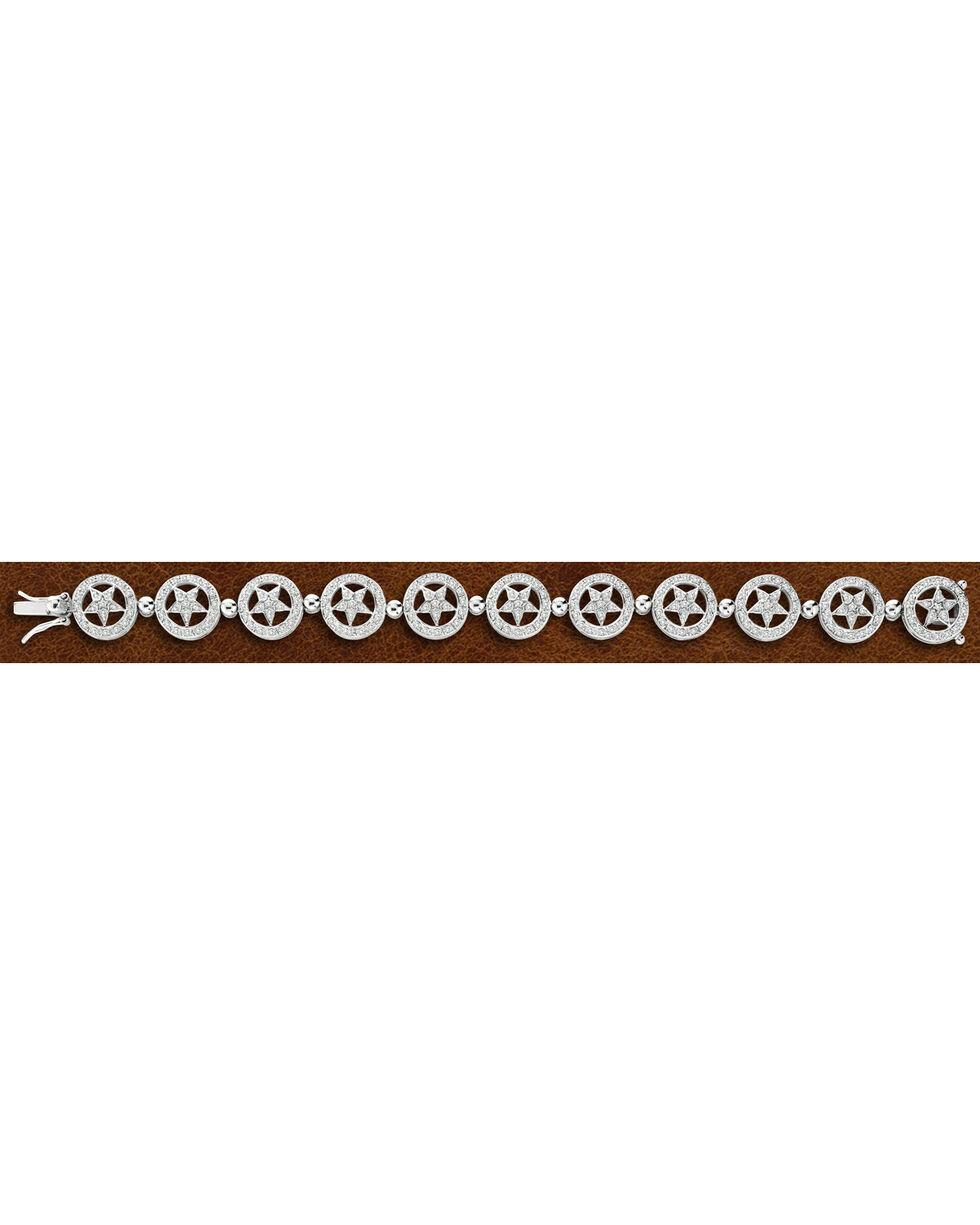 Kelly Herd Sterling Silver Star Bracelet , Silver, hi-res
