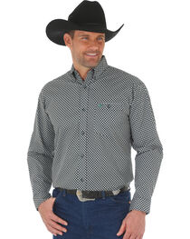 Wrangler 20X Men's Green/Black Advanced Comfort Competition Shirt - Big & Tall, , hi-res