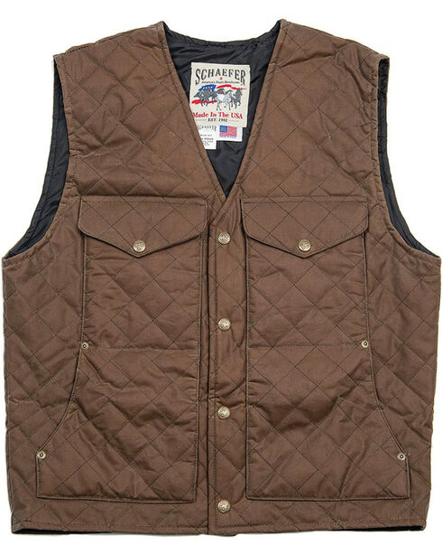 Schaefer Outfitter Men's Oak Blacktail Quilted Rangewas Vest , Dark Green, hi-res