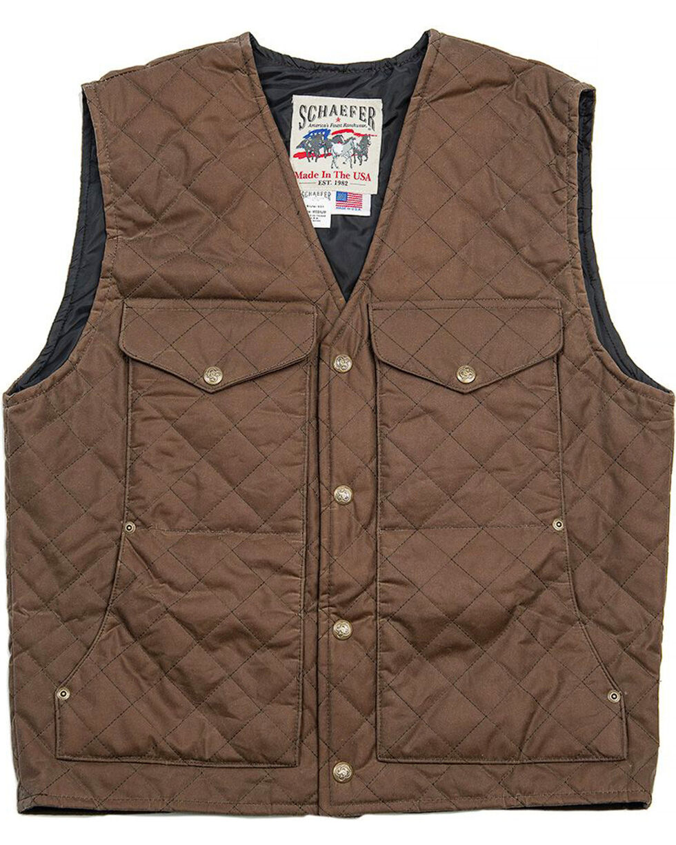 Schaefer Outfitter Men's Oak Blacktail Quilted Rangewas Vest - Big 2X, Dark Green, hi-res