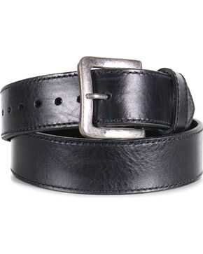 American Worker® Men's Leather Stitch Belt, Black, hi-res