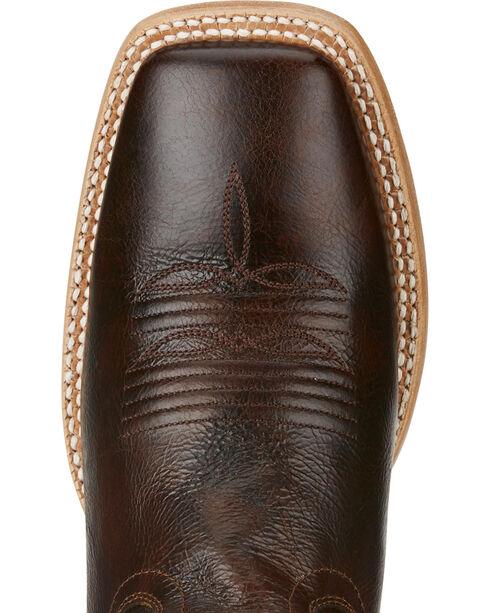 Ariat Men's Ranchero Rebound Dark Brown Cowboy Boots - Square Toe, Dark Brown, hi-res