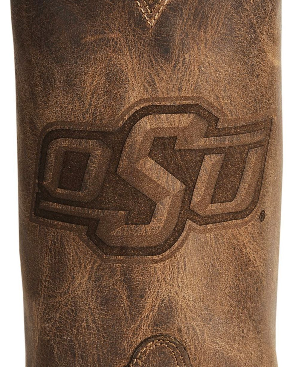 Nocona Women's Oklahoma State University College Boots, Tan, hi-res