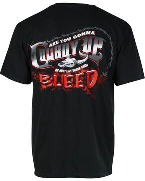 "Cowboy Up Men's ""Are You Gonna"" Graphic Tee, Black, hi-res"