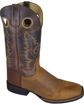 Smoky Mountain Men's Marshall Cowboy Boots - Square Toe, Brown, hi-res