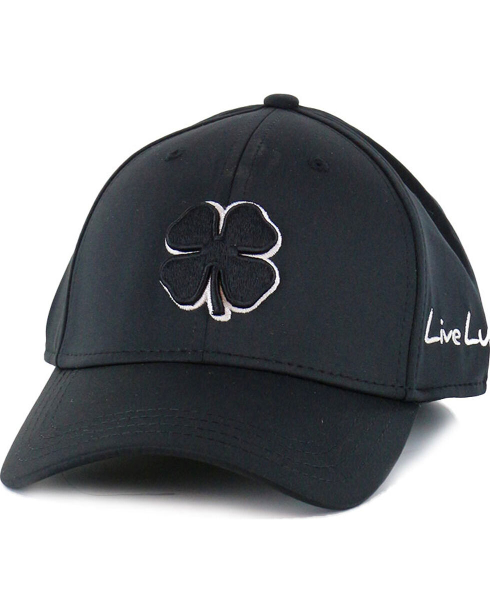 Black Clover Men's Premium Fitted Embroidered Logo Ball Cap, Black, hi-res