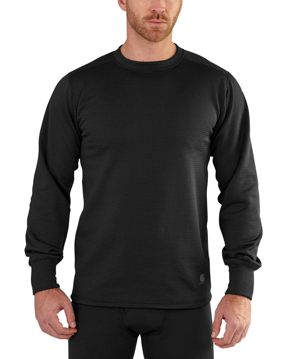 Carhartt Men's Black Base Force Extremes Super-Cold Weather Shirt , Black, hi-res