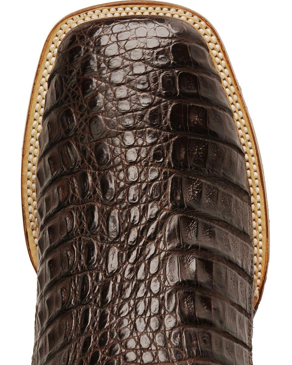 Dan Post Gel-Flex Cowboy Certified Caiman Stockman Boots, Chocolate, hi-res