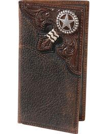 Nocona Embossed Rodeo Lonestar Concho Wallet, , hi-res
