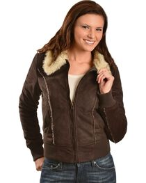 Faux Fur Bomber Jacket, , hi-res