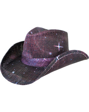 Peter Grimm Women's Purple Space Cowgirl Hat , Purple, hi-res