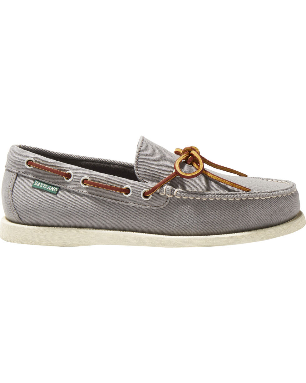 Eastland Men's Yarmouth Canvas Camp Moc Slip Ons, Grey, hi-res
