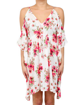 Glam Women's Fiesta Butterfly Dress , White, hi-res
