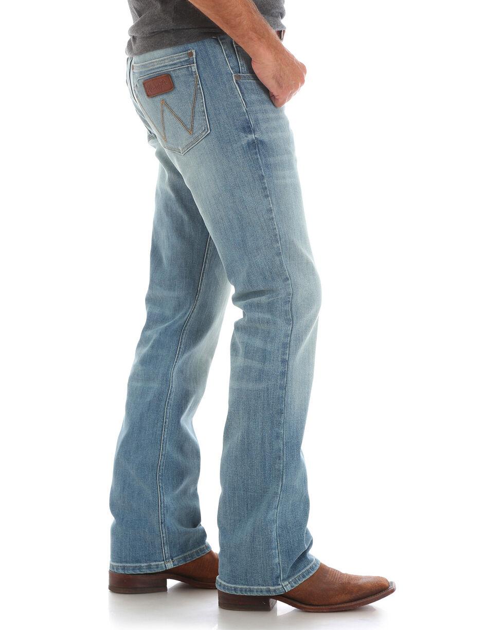 Wrangler Men's Blue Retro Relaxed Fit Jeans - Boot Cut , , hi-res
