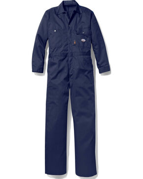 Rasco Men's Navy FR Heavyweight Coveralls - Tall , Multi, hi-res