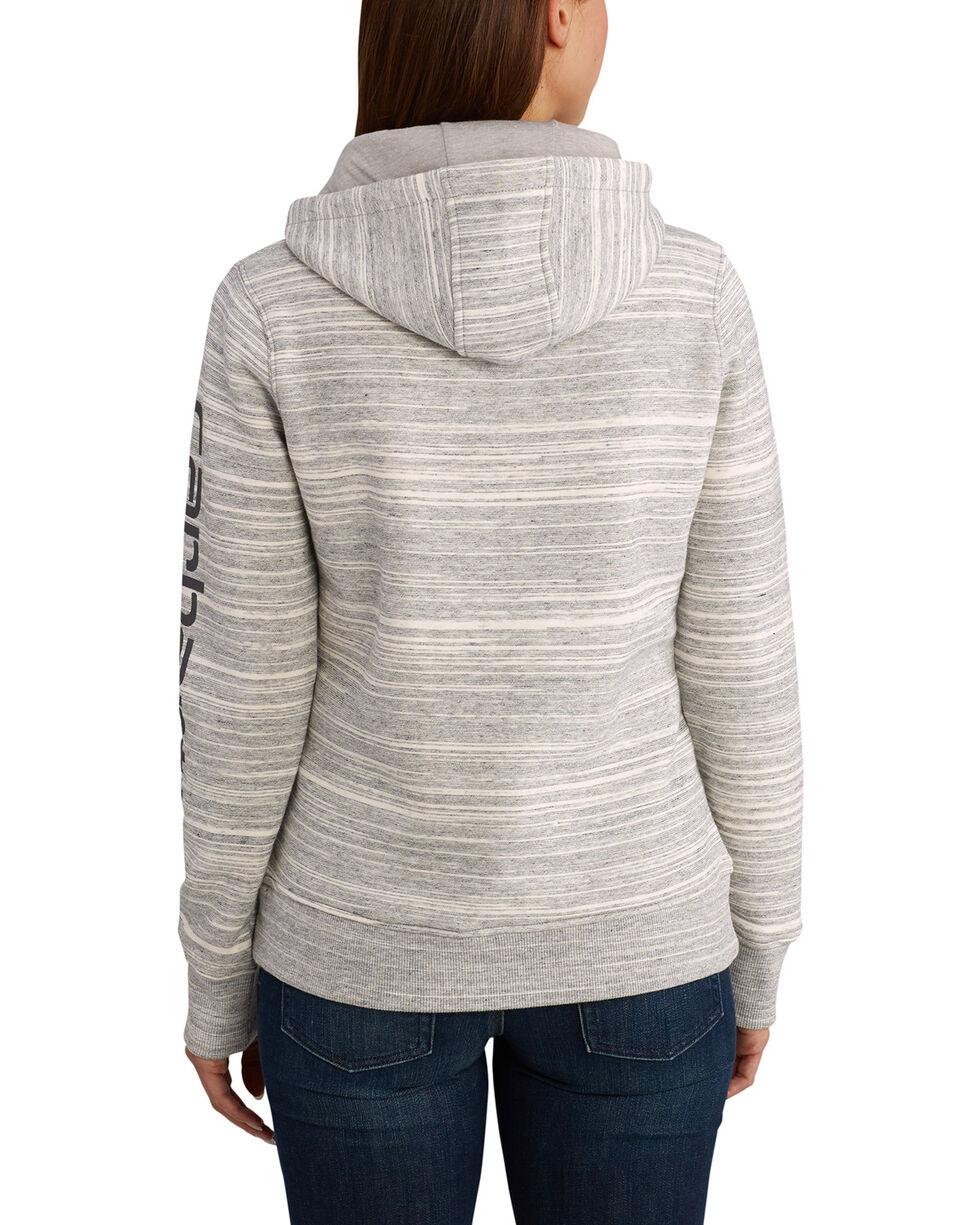 Carhartt Women's Clarksburg Graphic Sleeve Pullover Sweatshirt, Dark Grey, hi-res
