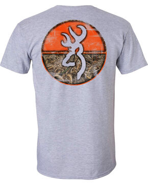 Browning Men's Realtree Max-5 Circle Short Sleeve Tee, Grey, hi-res