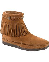 Minnetonka Women's Hi Top Back Zip Boots, , hi-res