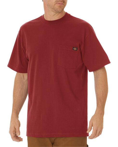 Dickies Men's Short Sleeve Heavyweight T-Shirt - Big & Tall, Brick, hi-res