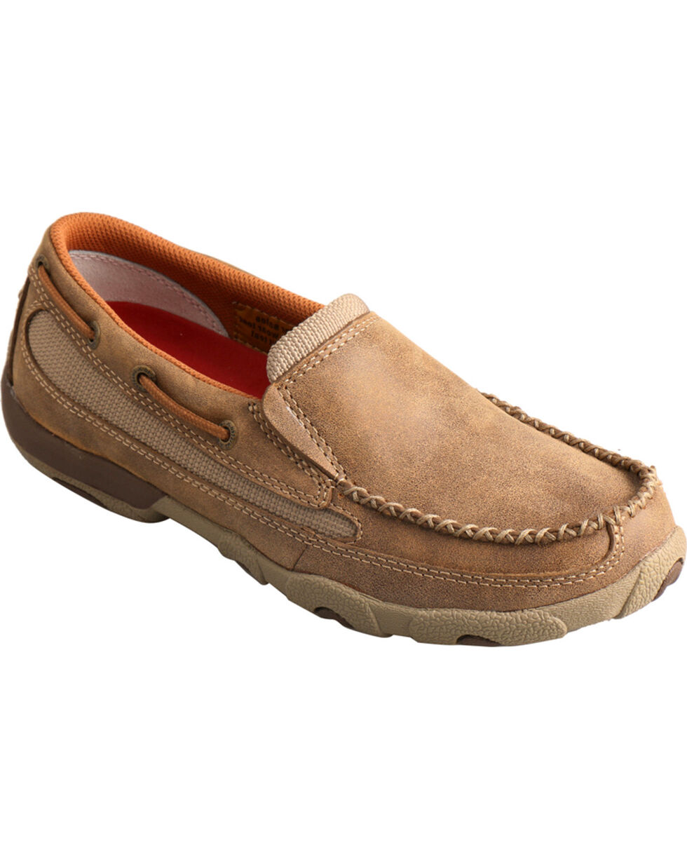 Twisted X Women's Leather Driving Moccasins, Bomber, hi-res