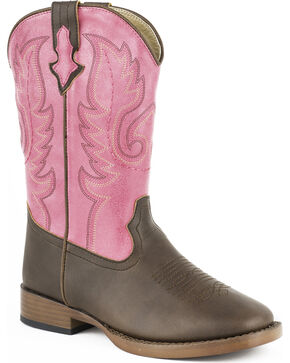Roper Kid's Texsis Western Boots, Brown, hi-res